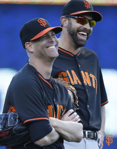 Huddy loving the October run. C/O SFGiants Photos